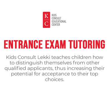 Kids Consult Lekki teaches children how to distinguish themselves from other qualified applicants, thus increasing their potential for acceptance to their top choices.